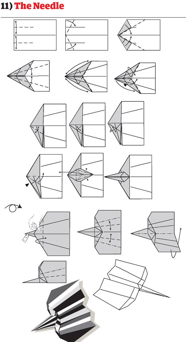 How To Make Cool Paper Airplane Designs How To Build The World...