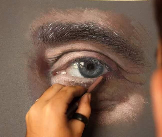 photorealistic pastel portrait 3