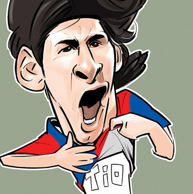 Lionel Messi Caricature