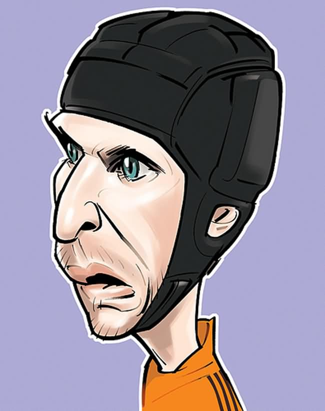 Petr Cech caricature