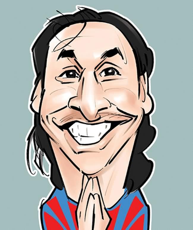 Zlatan Ibrahimovic caricature